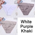 Load image into Gallery viewer, 3PCS Women Cotton Panties Sexy Low Waist Underwear Panties Female Lingerie Underpants Hollow Heart Embossed Briefs Solid Color