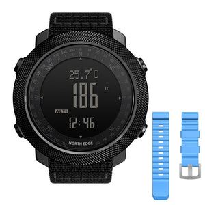 NORTH EDGE Men's sport Digital watch Hours Running Swimming Military Army watches Altimeter Barometer Compass waterproof 50m