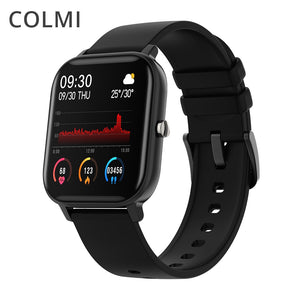 COLMI P8 1.4 inch Smart Watch Men Full Touch Fitness Tracker Blood Pressure Smart Clock Women GTS Smartwatch for Xiaomi