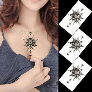 Waterproof Temporary Tattoo Sticker of body Love wave tattoo small size tatto stickers flash tatoo fake tattoos for girl women