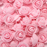 Load image into Gallery viewer, 50/100/200 Pieces Teddy bear of roses 3cm Foam wedding decorative flowers christmas decor for home diy gifts artificial flowers