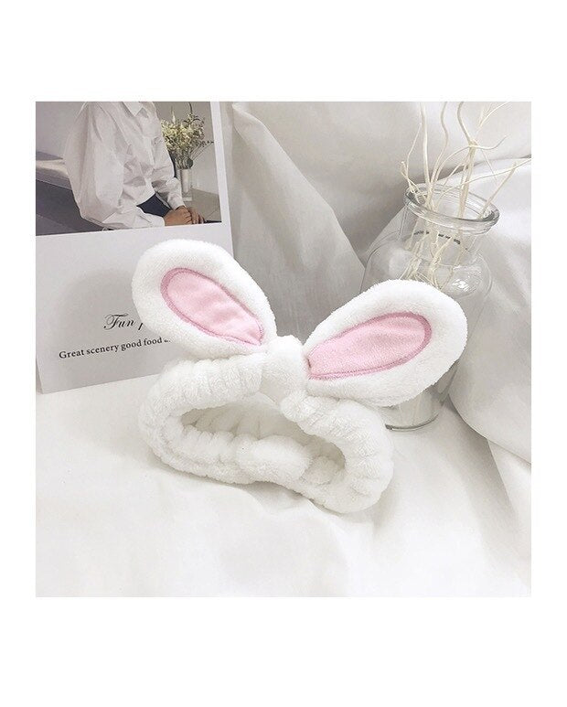 1Pcs Fashion Women Girls Rabbit Ears Hairband Elastic Headdress Hair Accessories Cotton Makeup Tools