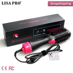 Load image into Gallery viewer, Lisapro Dropshipping 2 IN 1 One Step Hair Dryer Hot Air Brush Hair Straightener Comb Curling  brush hair styling tools