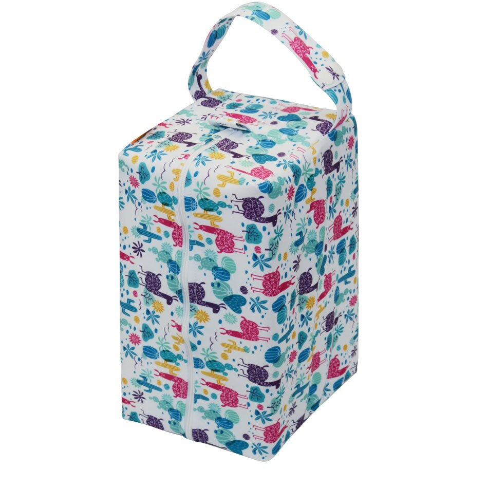 HappyFlute Baby Cloth Bags, Waterproof Nappy Bags, Washable and Reusable Wetbags,Fits 6 Onesize All In One Diapers