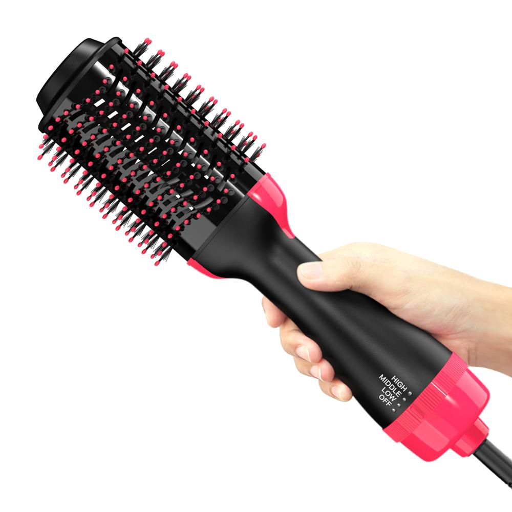 Lisapro Dropshipping 2 IN 1 One Step Hair Dryer Hot Air Brush Hair Straightener Comb Curling  brush hair styling tools