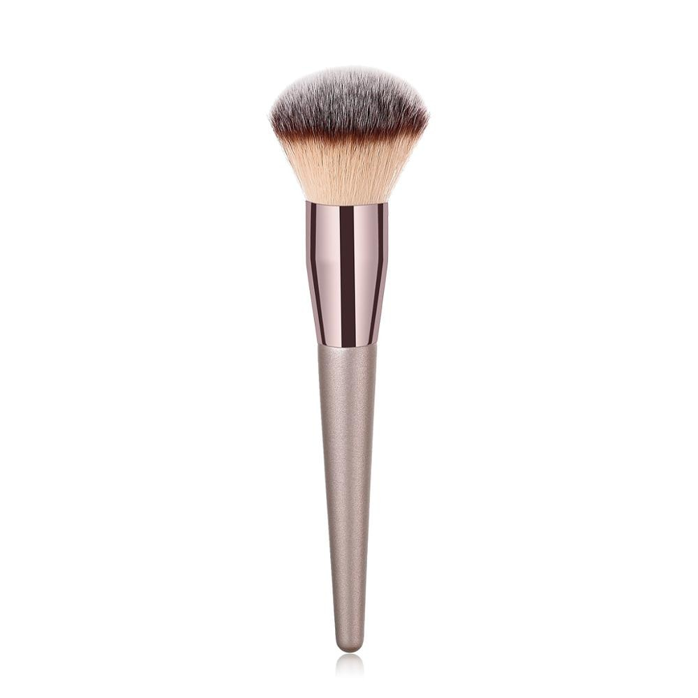 BBL 1 Piece Champagne Gold Precision Liquid Foundation Brush Perfect Pro Tapered Buffing Sculpting Angled Makeup Brushes Tools
