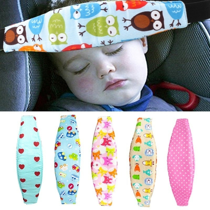 Children Head Protection Baby Chair Headrest Sleeping Support Holder Belt Baby Car Pillows Safety Car Seat Sleep Nap Head Band