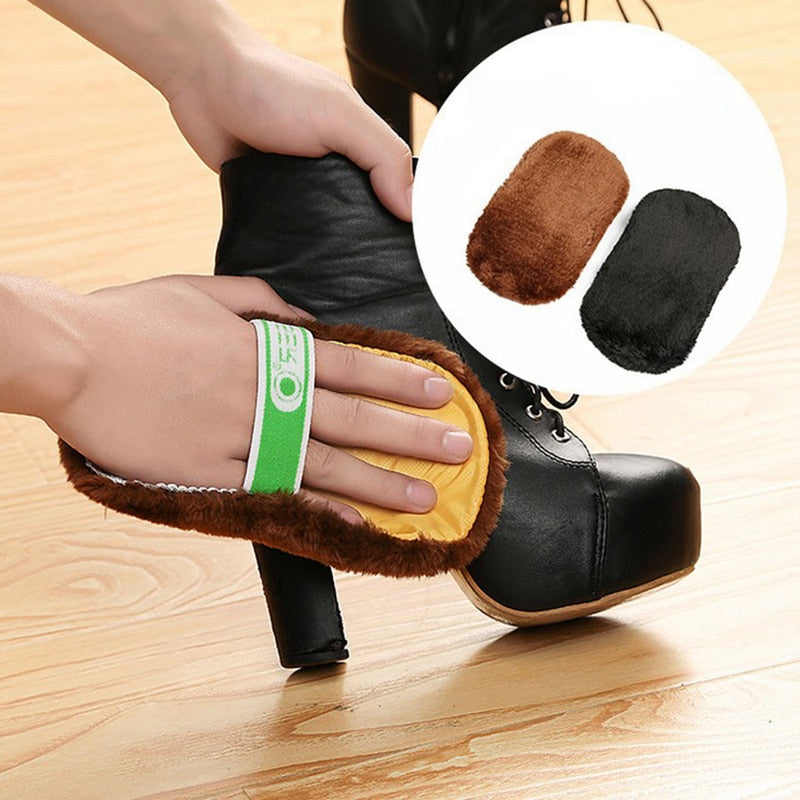 Shoeshine Cloth Plush Shoe Cleaning Cloth Faux Wool Polishing  Cleaning Gloves Shoe Care Leatherware Cleaner Leather Care Tools