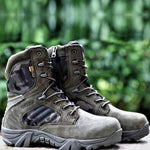 Load image into Gallery viewer, Men Desert Tactical Military Boots Mens Work Safty Shoes Special Force Waterproof Army Boot Lace Up Combat Ankle Boots Big Size