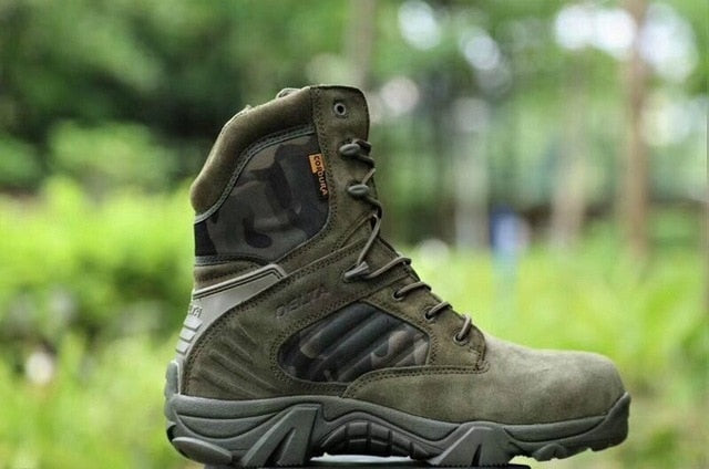 Men Desert Tactical Military Boots Mens Work Safty Shoes Special Force Waterproof Army Boot Lace Up Combat Ankle Boots Big Size