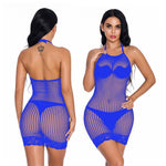 Load image into Gallery viewer, Fishnet Erotic Dress Plus Size Women Perspective Lingerie Sexy Hot Erotic Underwear Female Sexy Lingerie Babydoll Costumes