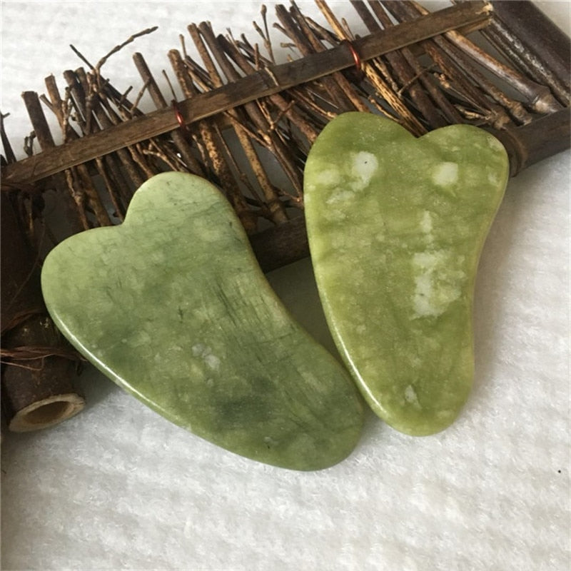 Natural Jade Scraping Board Facial Massager Pressure Therapy Scraper Health Care Beauty Massage Tool For Face