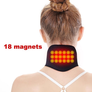 1piece Self-heating Tourmaline Neck Magnetic Therapy Support Tourmaline Belt Wrap Brace Pain Relief Neck Massager Products