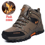 Load image into Gallery viewer, Brand Men's Winter Boots Warm Men's Snow Boots High Quality Leather Waterproof Men Sneakers Outdoor Men Hiking Boots Work Shoes