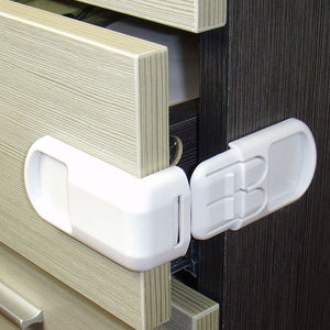 5pcs Plastic Baby Safety Protection From Children In Cabinets Boxes Lock Drawer Door  Security Product