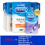 Load image into Gallery viewer, Durex Condom 100/64/32 Pcs Box Natural Latex Smooth Lubricated Contraception 4 Types Condoms for Men Sex Toys Products Wholesale