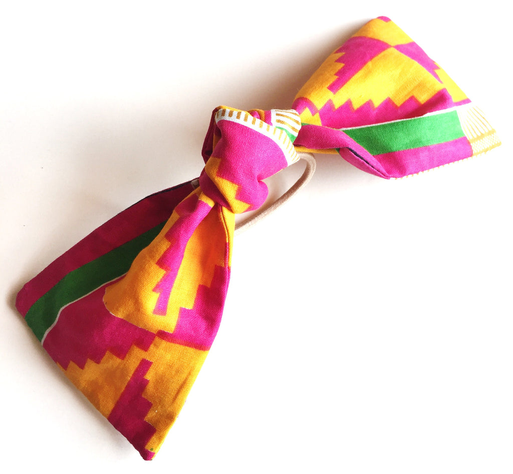 African Print Knot Hair Tie