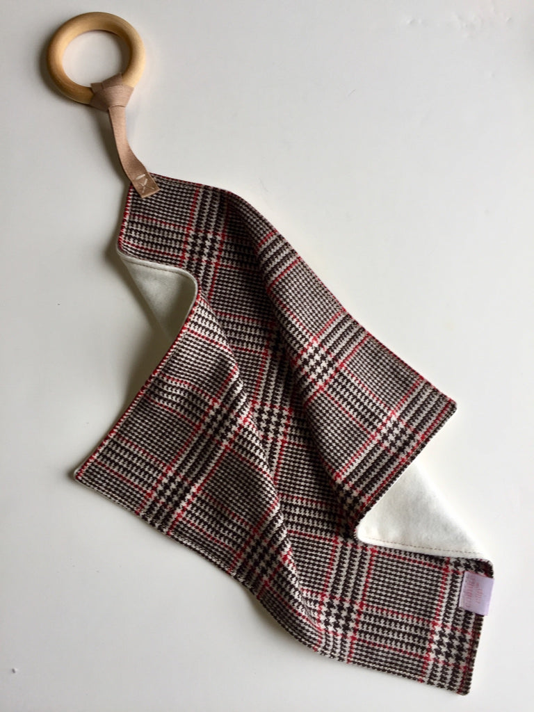 Cashmere Plaid Teether Blanket