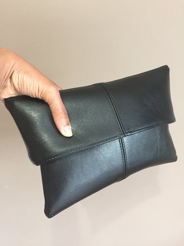 Vegan Leather Pocket Clutch