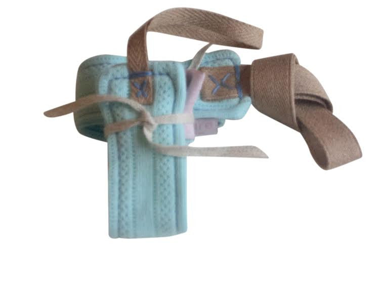 Organic cotton binkie & toy holder gift set