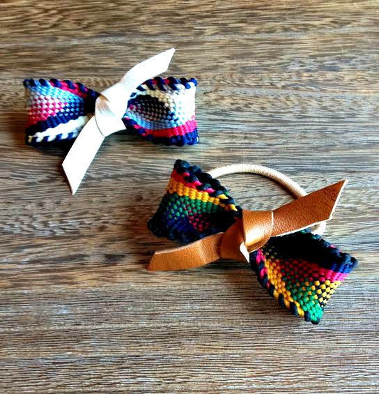 Aztec & Leather Knot Bow