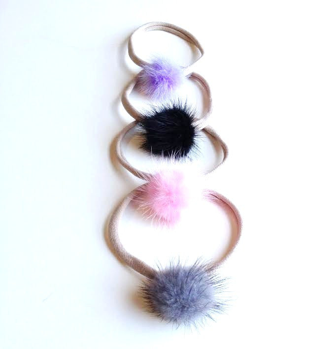 Marabou Feather Puff Headband