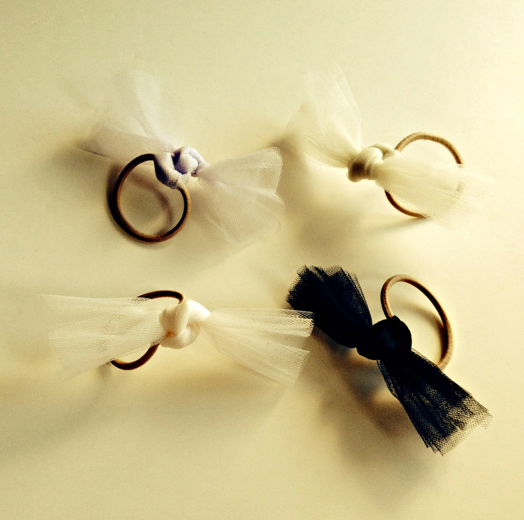 Tulle Knot Ponytail Holder