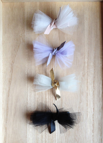 Tulle & Leather Luxe Bow