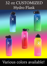 Load image into Gallery viewer, Hydro Flask 32 oz Water Bottle with Customized Design