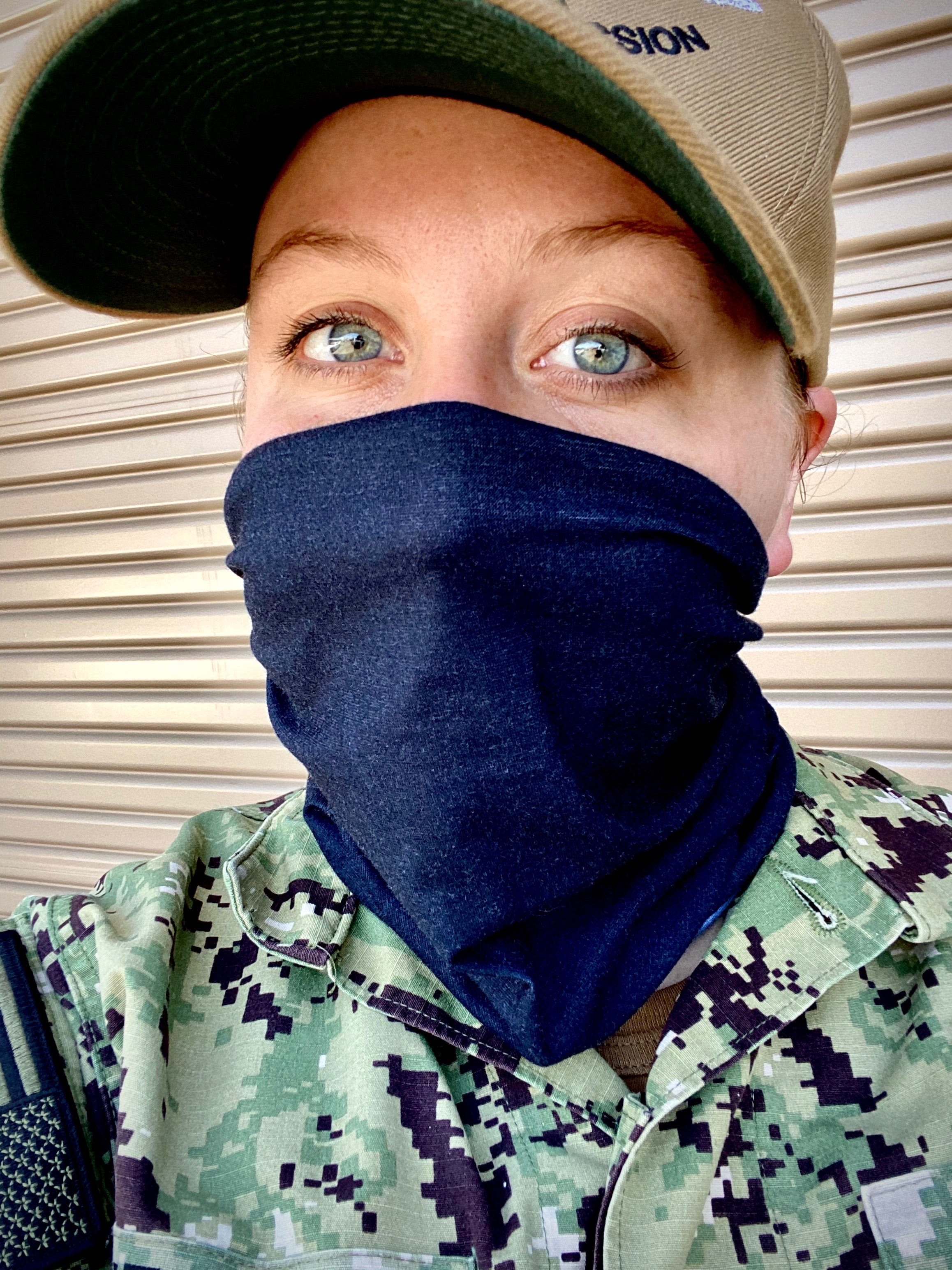 Neck Gaiter Camo and Black Set