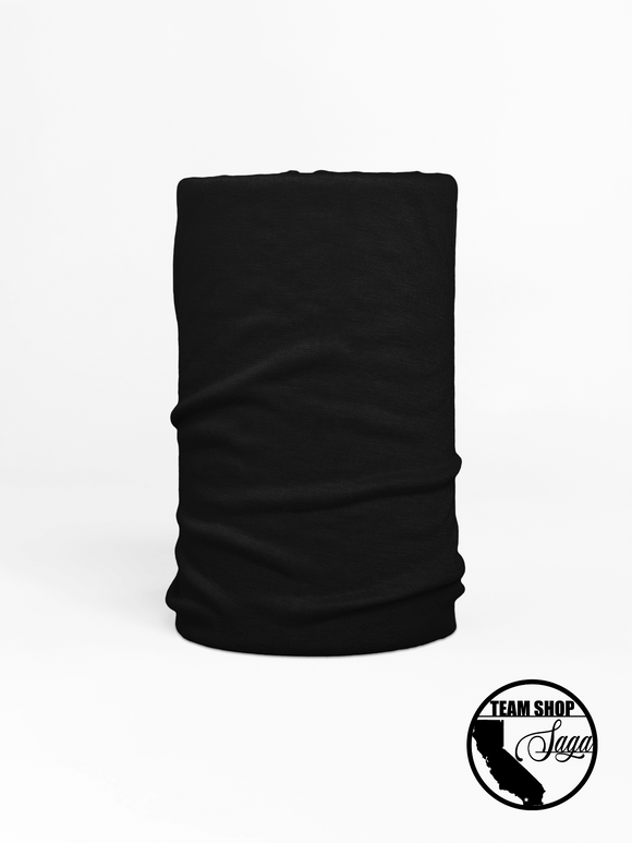 Neck Gaiter- Black Out - Antibacterial Fabric