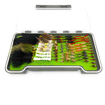 75 FLY FISHING FLIES SET WITH WATERPROOF BOX - Zingerfishing Fly Fishing Flies