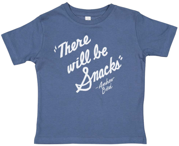 """There Will Be Snacks"" Kids Tee"
