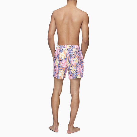 "TROPICAL HIBISCUS PRINT 5.5"" SWIM SHORTS"