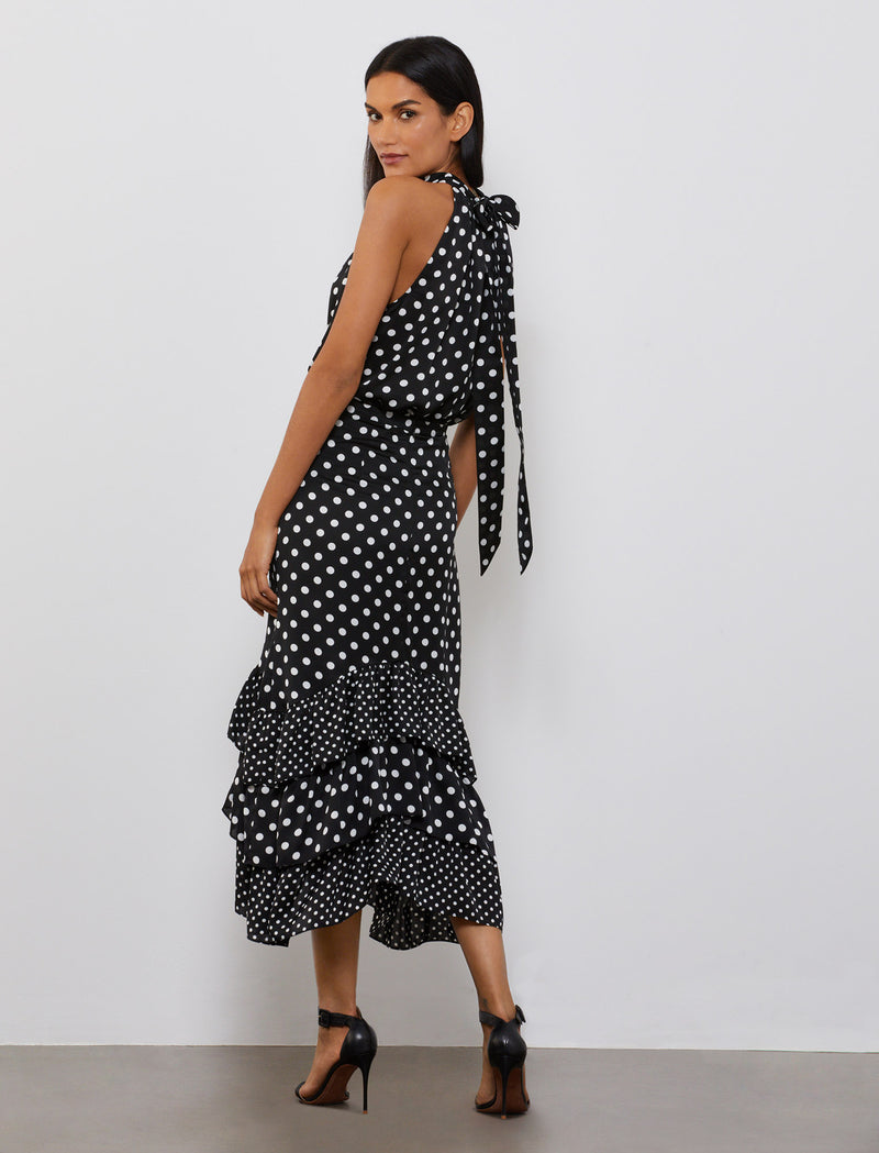 BLACK-HALF INCH POLKA DOT