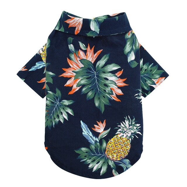 Summer Dog Clothes Dogs Cats Shirt Hawaii Beach Casual Pet Clothes Shirts Puppy Clothing Small Medium Dogs Cats Pug S-XL - Brixtee