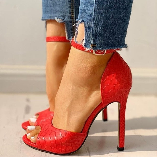 New shoes woman High Heels Pumps Sandals Fashion Summer Sexy Ladies Increased Stiletto Super Peep Toe shoes - Brixtee
