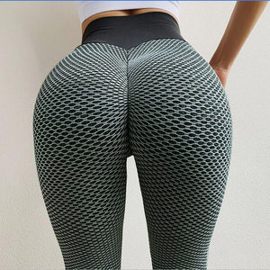 NORMOV Seamless Fitness Women Leggings Fashion Patchwork Print High Waist Elastic Push Up Ankle Length Polyester Leggings - Brixtee