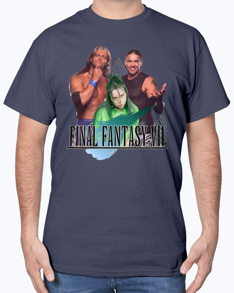 Billie Eilish Final Fantasy Shirt - Billie Eilish with Edge and Christian Shirt - Billie Eilish Shirt - Brixtee