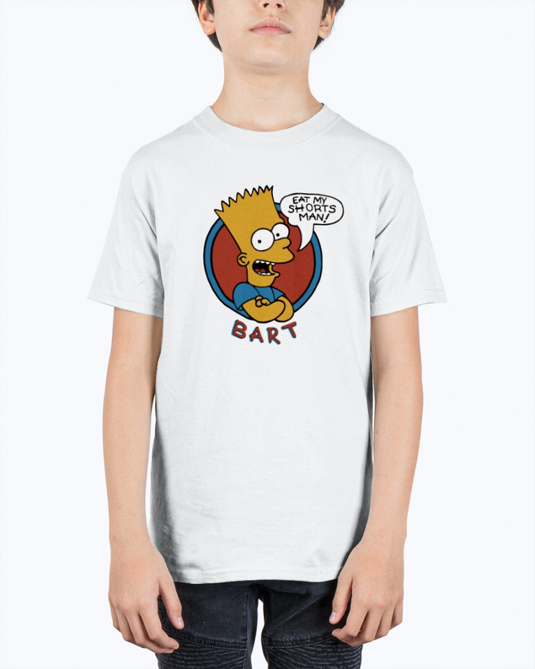 Bart Simpson Eat My Shorts Man T-Shirt - Brixtee