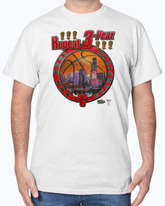 1998 Repeat 3-Peat! Chicago Bulls Championship NBA T-Shirt - Repeat 3-Peat Bulls T-Shirt - Brixtee