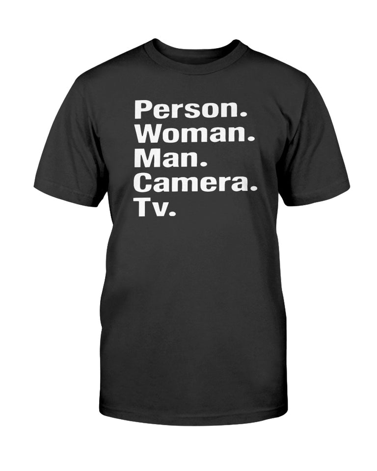 Person Woman Man Camera TV Shirt - Trump - Brixtee