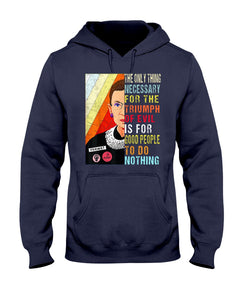 Notorious RBG Ruth Bader Ginsburg Girl Woman Power Feminist T-Shirt - Brixtee
