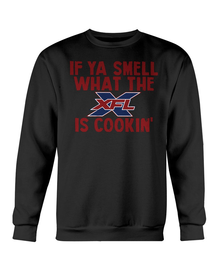 If Ya Smell What The XFL Is Cooking T-Shirt - Brixtee