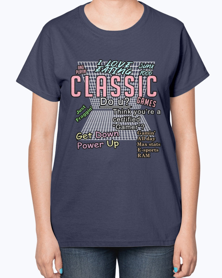 Brian David Gilbert - I Love Eating Junk Food And Playin' Classic Games T-Shirt - Brixtee