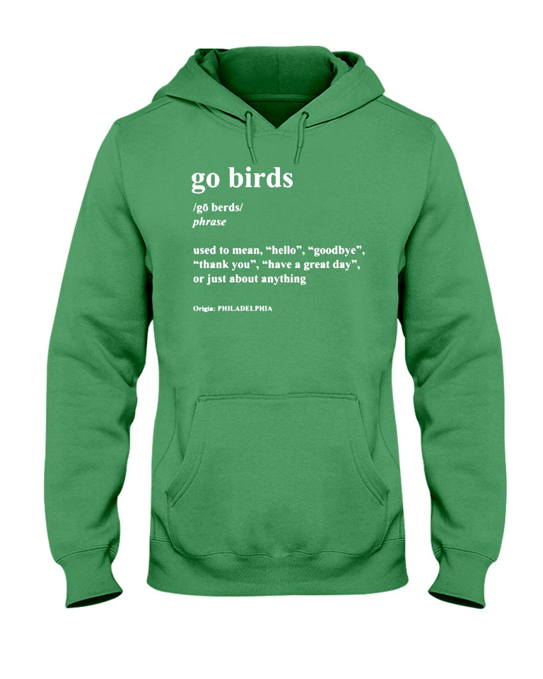 Go Birds Dictionary Definition Philadelphia Eagles T-Shirt - Brixtee