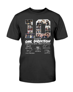 10 Year Of One Direction 2010 - 2020 Shirt - Brixtee