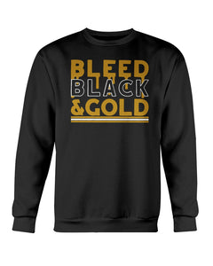 Bleed Black And Gold T-Shirt, Pittsburgh Steelers - Brixtee