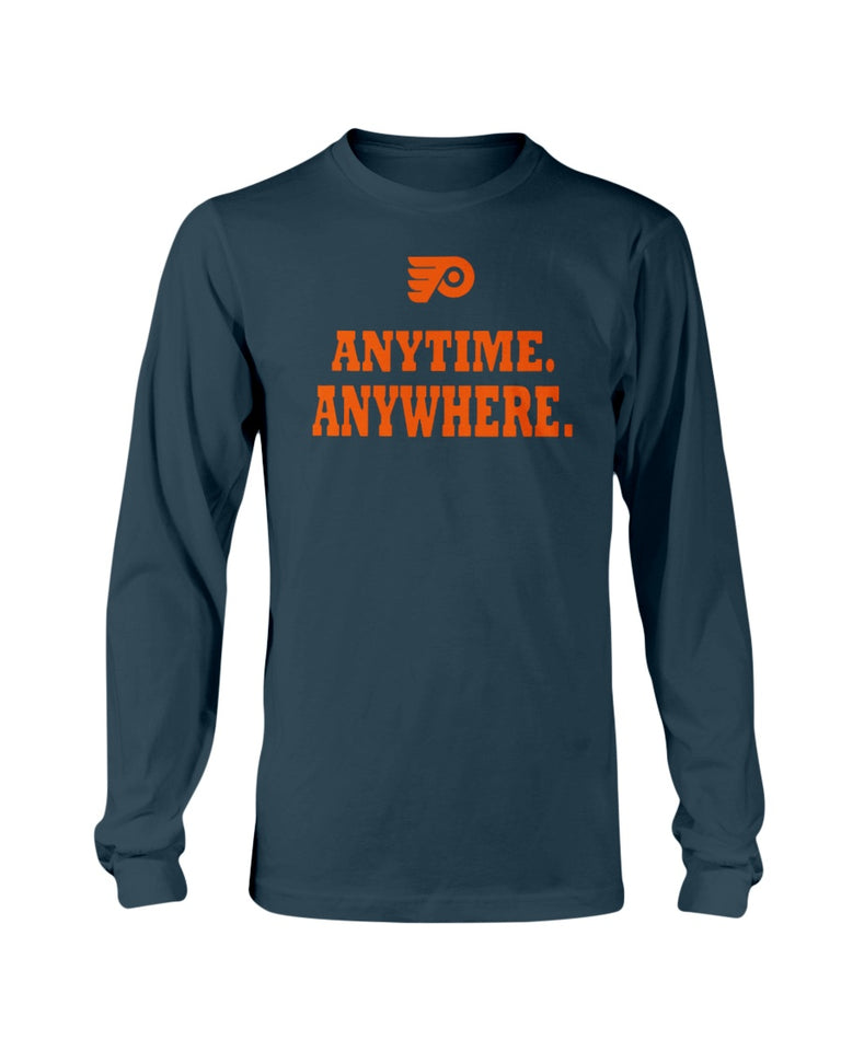 Anytime Anywhere T-Shirt Philadelphia Flyers - Brixtee