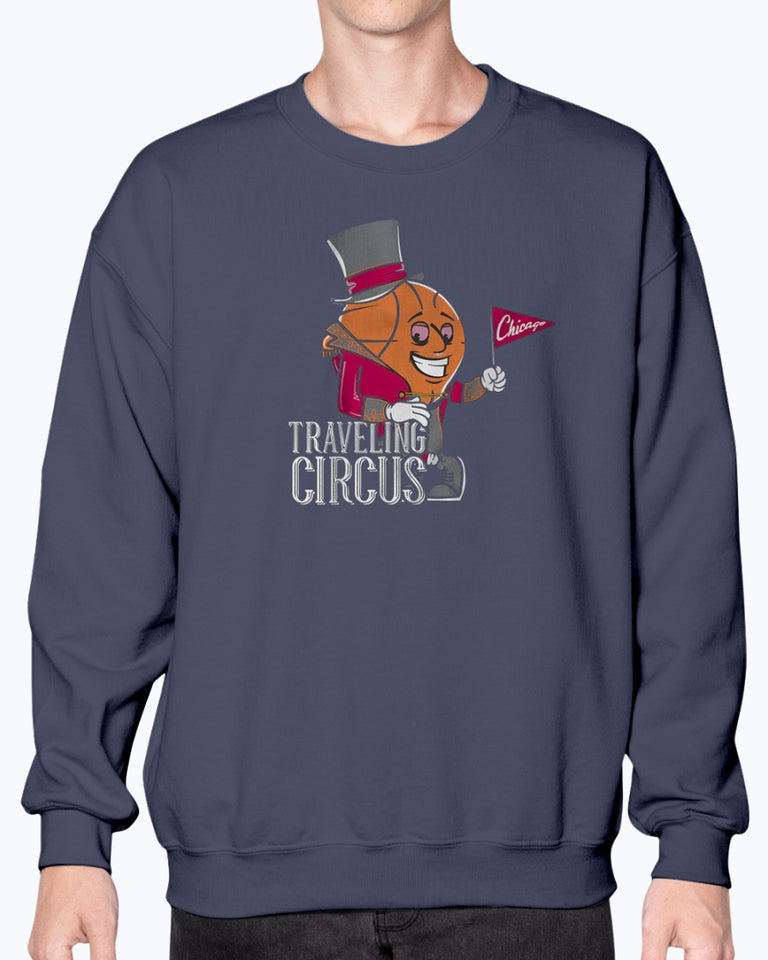 Chicago Traveling Circus T-Shirt, Chicago Bulls - Brixtee